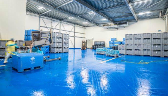 HACCP vloer Ucrete DP10 ideaal voor voedingsindustrie