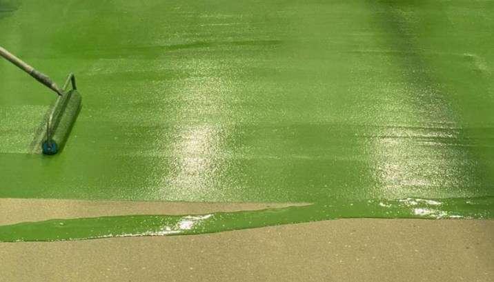 Groene Ucrete vloer voor Johma