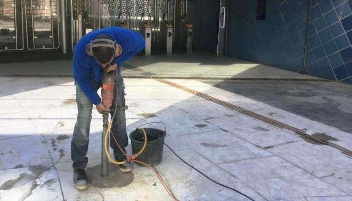 Inspectie voorafgaand aan vloerrenovatie: kernboring