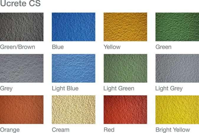 Kleuren Ucrete CS antislipvloer