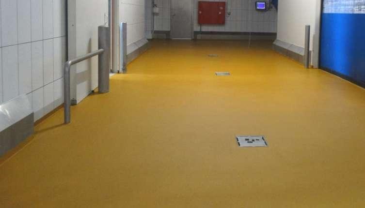 Renovatie vloer België met Ucrete DP antislip vloer