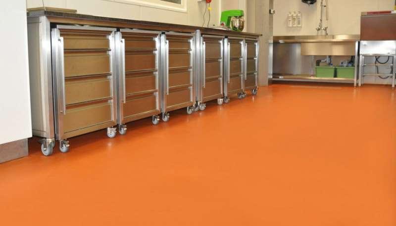 Opgeleverde renovatievloer in keuken