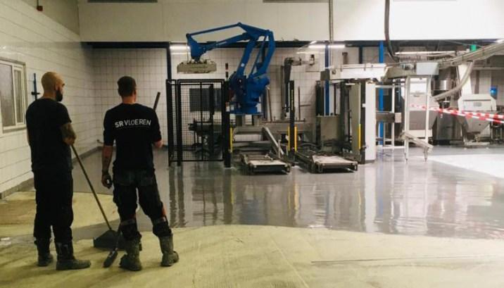 Renovatievloer zuivelindustrie afgewerkt met Ucrete MF