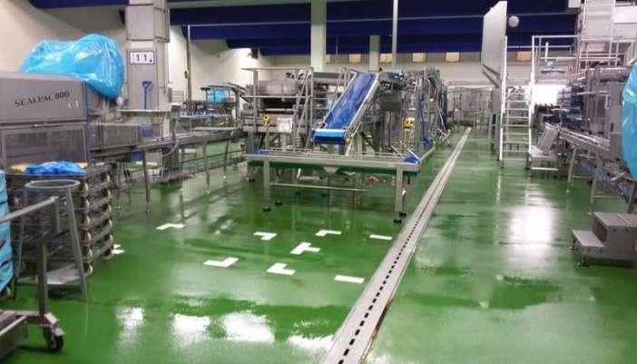Renovatievloer voor de voedingsindustrie. Vloer renovatie van A tot Z
