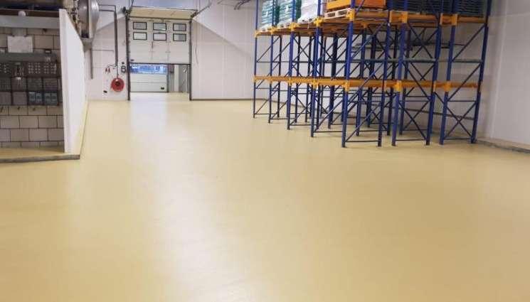 Resultaat na snelle renovatie vloer bakkerij