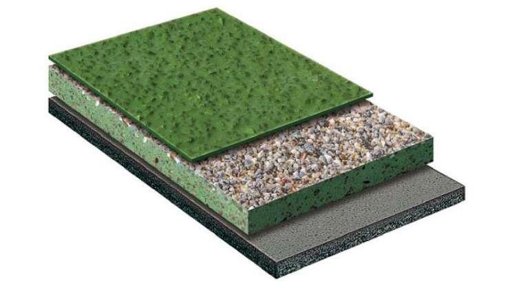 Doorsnede Ucrete DP30 antislip vloer systeem