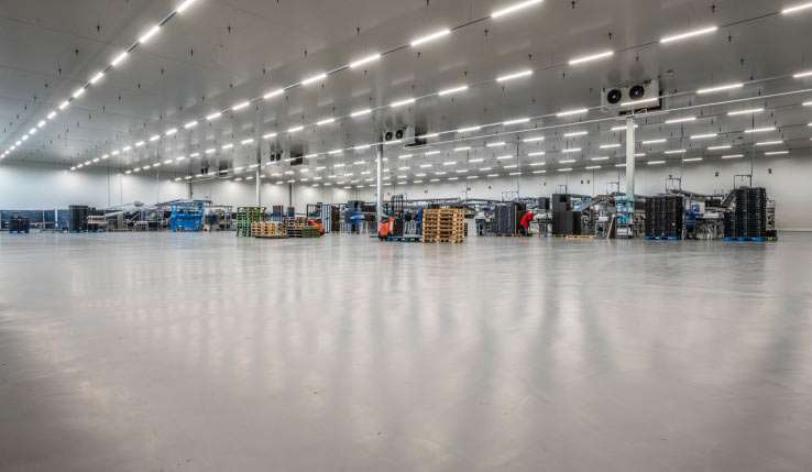11000 m2 Ucrete MF op productievloer